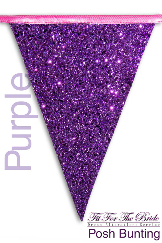 Posh Bunting - Purple